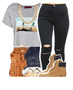 What state u rep by lulu-foreva on Polyvore featuring Boohoo, Timberland, MCM and ASOS