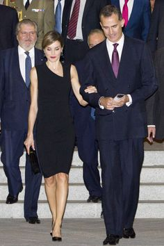 Queen Letizia and King Felipe of Spain attend the Royal Theatre's new season opening.