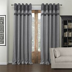 Solid Grey Living Room Curtains | Drapes vs Curtains Blog