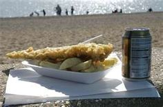 Fish and chips down the beach,is the best..