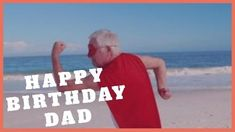 A creative video background showing a dad on the beach dressed as a superhero.