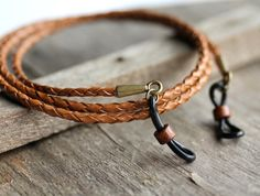 Rustic Leather Eyeglass Chain Rugged Mens Leather Sunglasses holder strap Braided Leather Mens Eyewear Dad gift Gifts for Grandfather mens accessories Glasses Frames Trendy, Leather Lanyard, Leather Cord, Leather Dye, Men Eyeglasses, Gold Chains For Men, Eyeglass Holder, Bijoux Diy, Braided Leather