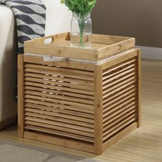 Convenience Concepts Bamboo Storage Ottoman | from hayneedle.com