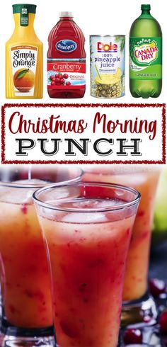 Punch Recipes For Kids, Party Punch Recipes, Holiday Drinks, Holiday Recipes, Holiday Parties, Easy Christmas Recipes, Non Alcoholic Christmas Drinks, Holiday Punch Recipe, Easy Christmas Dinner