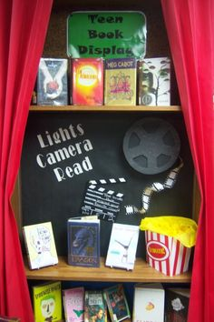 Teen Movie Books Display | Book Blather