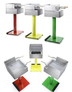 These 15 modern barbecue grill designs aren't just a means of cooking food outdoors – they're sculptural additions to the deck, balcony or garden. Outdoor Barbeque, Barbecue Grill, Food Out, Good Food, Mcm Furniture, Charcoal Bbq, Grill Design, Cooking Food, No Cook Meals