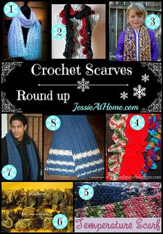 Crochet Scarves Round Up from Jessie At Home