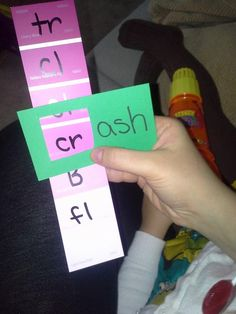 Kindergarten: CvC words and or word families with paint samples.