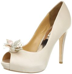 Badgley Mischka Women's Cleone Peep-Toe Pump,Natural,9.5 M US Badgley Mischka, To enter online shopping Just CLICK on AMAZON right HERE http://www.amazon.com/dp/B008U1OKN4/ref=cm_sw_r_pi_dp_Qemotb13HBNKTQX7