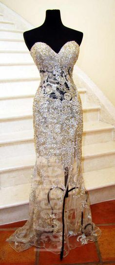 EVENING GOWN WORN AT WBFF WORLD's FOR SALE!!!! Inquire if interested