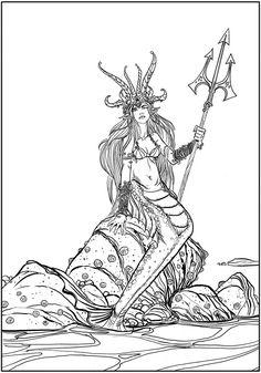 Creative Haven Fantasy Designs Coloring Book  Author: Aaron Pocock Dover Publications COLORING PAGE 4