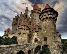 Beautiful Castle Kreuzenstein, Leobendorf, Austria Burg Kreuzenstein is a castle near Leobendorf in Lower Austria, Austria. It was constructed in the 19th century.