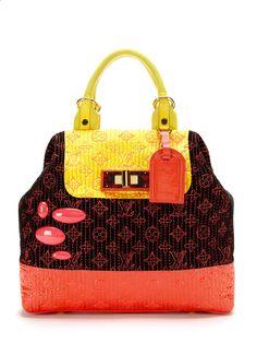 Louis Vuitton Rare Monogram Neon Noir Motard Firebird Bag