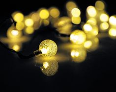 Velice Solar String Lights 30 LED Crystal Ball Lights Decorative Lighting For Garden Home Patio Lawn Christmas Trees Party and Holiday Decorations Warm White ** Click on the image for additional details. This Amazon pins is an affiliate link to Amazon.