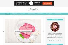 Recipe Pro // Genesis Theme 2.0 by Hunniemaid on Creative Market