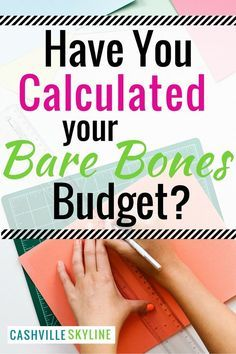 If you suddenly lost your job, what's the bare minimum you'd need to get by? A…