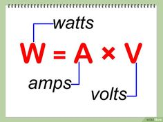 How to Calculate Wattage – Trend Medical Basic Electrical Wiring, Electrical Circuit Diagram, Electrical Symbols, Electrical Projects, Electrical Installation, Engineering Technology, Electronic Engineering, Electrical Engineering, Electronics Components