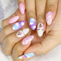 """4,914 Likes, 37 Comments - TINA YONG (@tina_yong) on Instagram: """"Unicorn nails by @sayuri_nails_sydney ✨ How cute are they?! #unicornnails"""""""