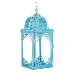 """Blue Metal Lantern - 17"""" @ $12.50"""