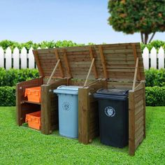 You'll love the Wachapreague Wooden Triple Bin Store at Wayfair.co.uk - Great Deals on all Outdoor products. Enjoy free UK delivery over £40, even for big stuff.