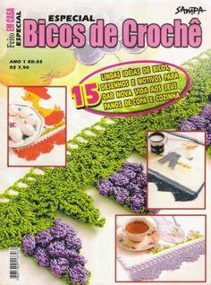 Bicos em crochê Revista Completa