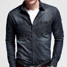 Camisa Casual Masculina. Mais de 55 modelos em #PROMOÇÃO  www.camisariarg.com/camisa-casual-jeans-masculina-03-79.html
