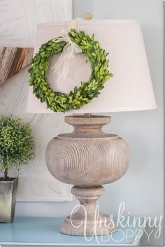Put a wreath on it!  Click photo for lots of Cozy Christmas Decorating ideas!