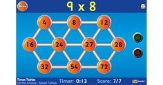Subtraction Games, Math Games, Math Activities, Mental Maths Tests, Math Test, Division Games, Multiplication And Division, Multiplication Tables, Learning Games For Kids