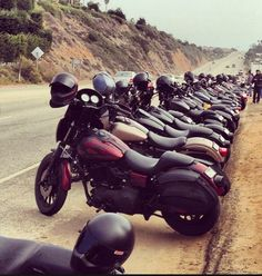 Line em up, club style Harley's
