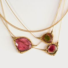 Audrius Krulis Watermelon Tourmaline Necklaces
