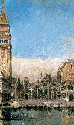 The Piazzetta, Venice.    Walter Richard Sickert (1860–1942).    York Museums Trust