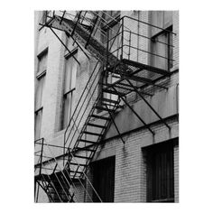 Fire Escape, Urban Architecture Poster by Tammy Winand Photography 1 copy sold #zazzle
