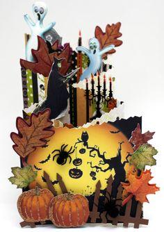 Card: Spooky, Double Cascading Card