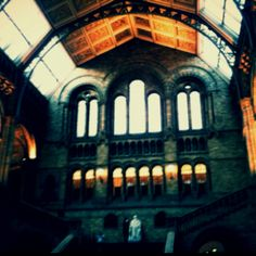 National History Museum hall in London