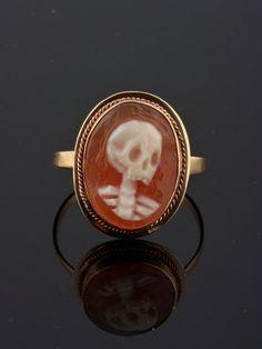Rare Vintage memento mori skull cameo by AntiqueVelvetGloves
