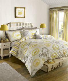 "Kirstie Allsopp Home Living ""Cecile Buttercup"" Yellow Bedding Quilt Duvet Covers Blue Duvet, Yellow Bedding, Bed Linen Design, Bed Design, Duvet Cover Sizes, Duvet Covers, Bed Linen Sets, Marketing, Linen Bedding"