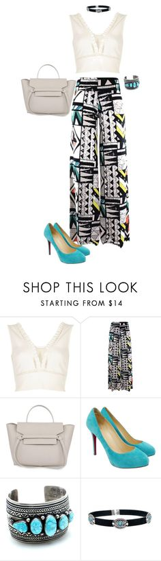 """""""Untitled #973"""" by kittykitty-1294 ❤ liked on Polyvore featuring River Island and Christian Louboutin"""