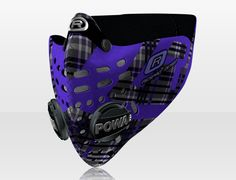 Respro® Skins™ pollution mask - TARTAN Purple #matchyourstyle   http://respro.com/pollution-masks/skins