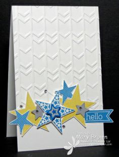"stampercamper.com - It's a Blog Hop! Create with Connie and Mary is having a little mini blog hop featuring sets that will be used in the upcoming Card ""Create""tions collection! One of the sets I will be using is Simply Stars! To start the hop, visit my blog. Set: Simply Stars, Perfect Pennant"