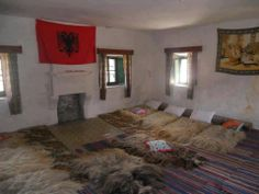"Old Albanian room. ""Oda"""
