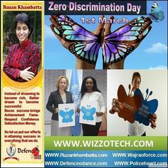 Zero Discrimination Day March 1 is Zero Discrimination Day an annual worldwide event that promotes diversity and recognizes that everyone counts. Organizations like the United Nations (UN) actively promote the day with various activities to celebrate everyones right to live a full life with dignity regardless of age gender sexuality nationality ethnicity skin color height weight profession education and beliefs. #youthicon #motivationalspeaker #inspirationalspeaker #mentor…