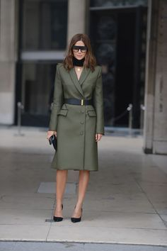 Christine Centenera style file Josh Goot jacket, Stella McCartney belt, Celine shoes and sunglasses, JW Anderson neckpiece, Anne Schofield necklace.