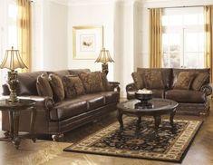 Ashley Chaling Bonded Leather Sofa & Loveseat $1029.98