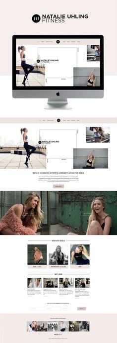 clean feminine elegance meets fitness squarespace website design | designed by: golivehq.co