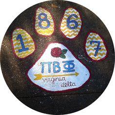 I love my school and PI PHI!!!! ODU Homecoming Pi Phi paw print! #piphi #pibetaphi (Virginia Delta)