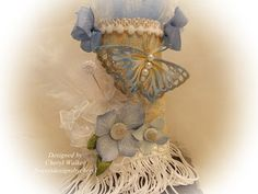 Sweeet Designs By Cheryl: Shabby Chic Butterfly Tussy Mussy