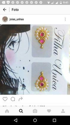 Manicures, Nails, E Design, Diana, Nail Art, Nail Stickers, Nail Jewels, Ficus Pumila, Bling Nail Art