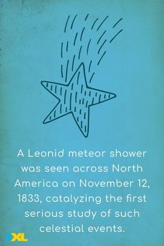 The Leonids produce meteor storms every 33 years. These events can exceed 1,000 and even 100,000 meteors per hour. #TBT