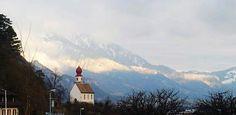 sargans switzerland - spring snow