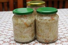 Výborný kapustový šalát nesterilizovaný Preserves, Mason Jars, Recipies, Ale, Goodies, Veggies, Smoothie, Canning, Food